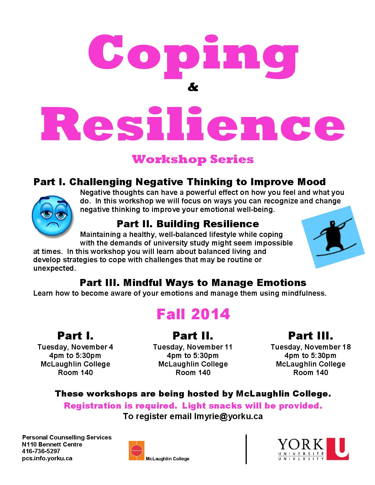 Challenging Negative Thinking to Improve the Mood @ 140 McLaughlin College | Toronto | Ontario | Canada