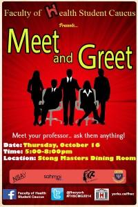 Meet and Greet health caucus poster