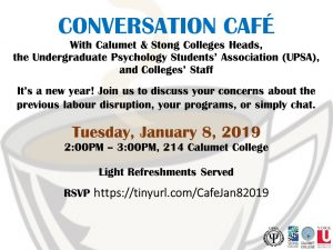 Conversation Cafe with Calumet & Stong Colleges Heads and UPSA @ 214 Calumet College