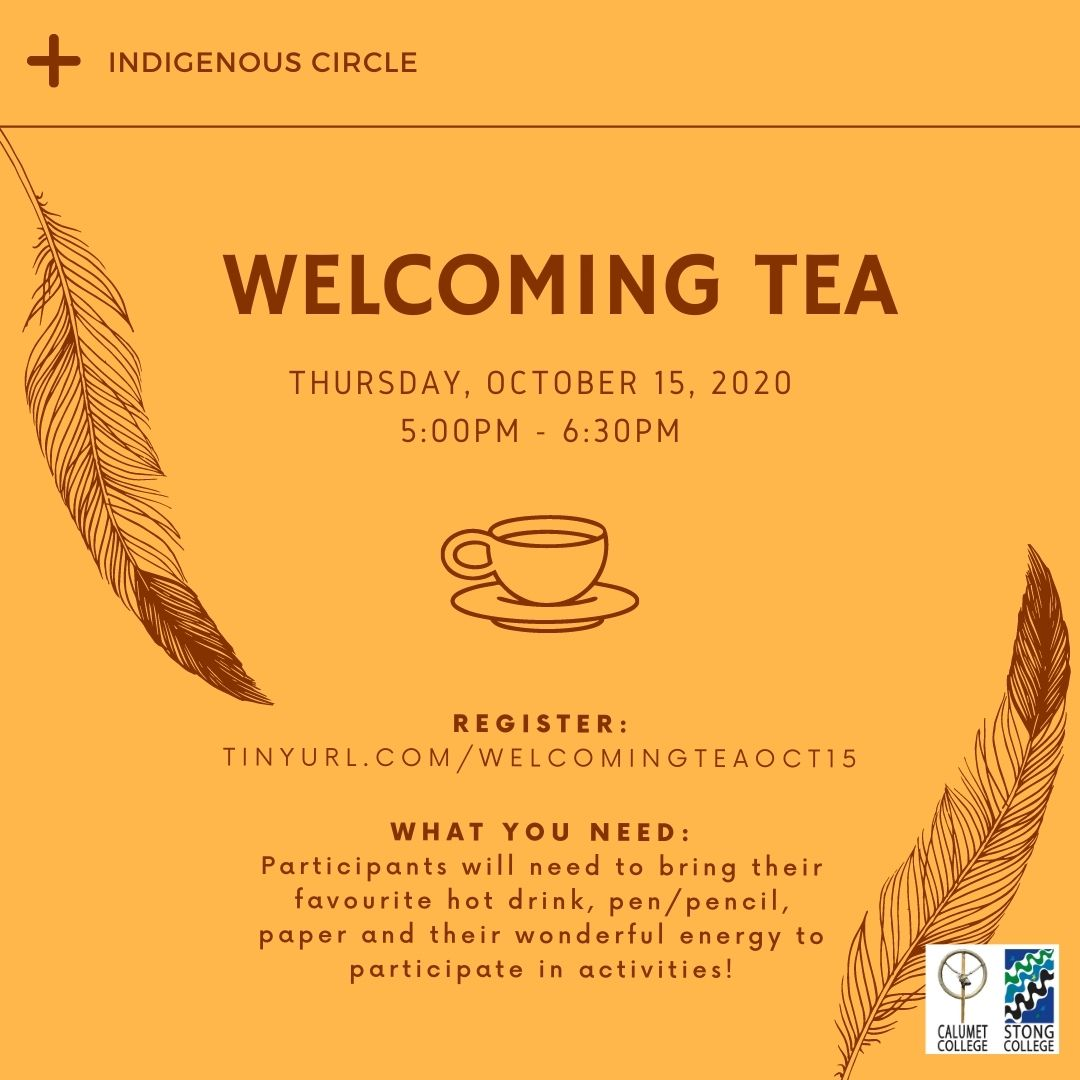 Welcoming Tea Event Poster