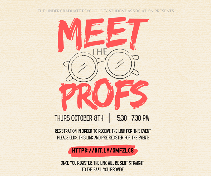 Meet the Profs Poster