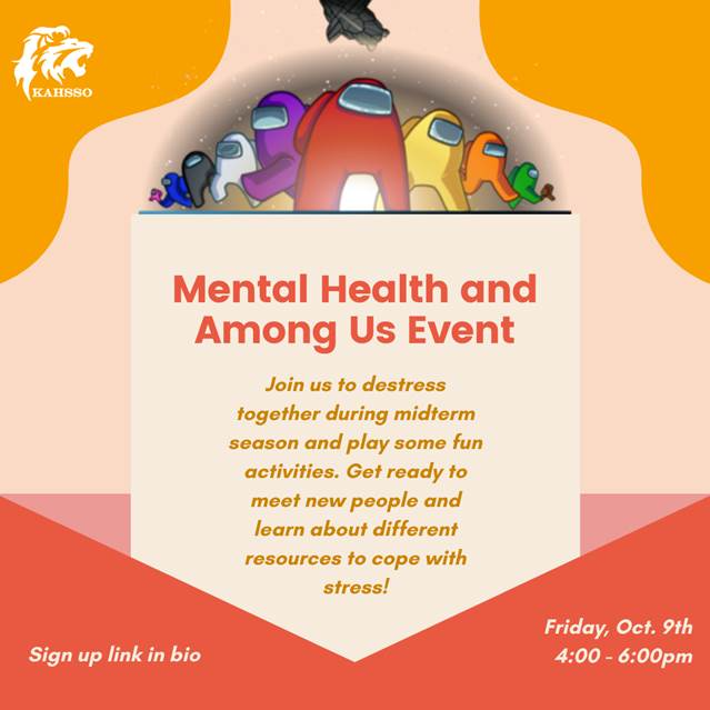 Mental Health and Among Us Event Poster