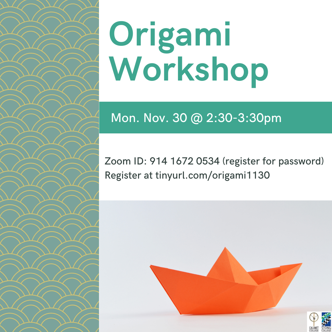 Origami Workshop @ Zoom Meeting ID: 914 1672 0534