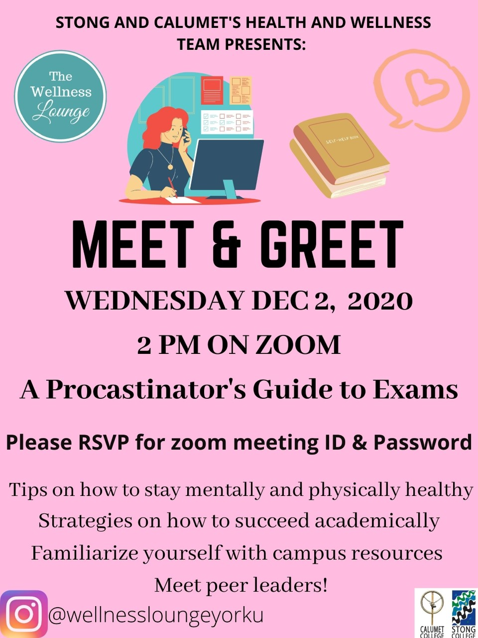 Meet & Greet: A Procrastinator's Guide to Exams @ Zoom