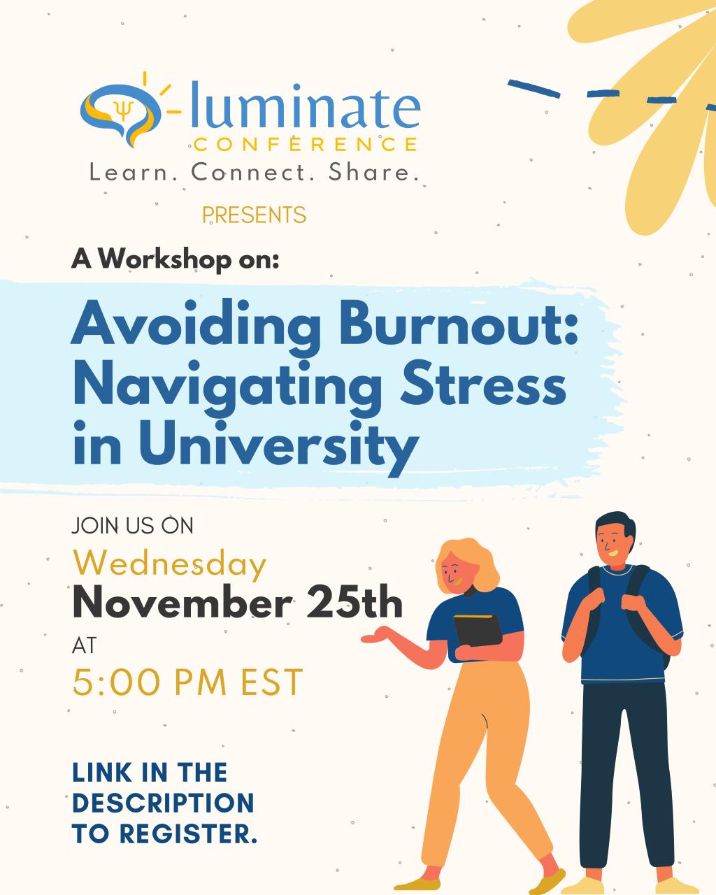 Avoiding Burnout: Navigating Stress in University @ Zoom