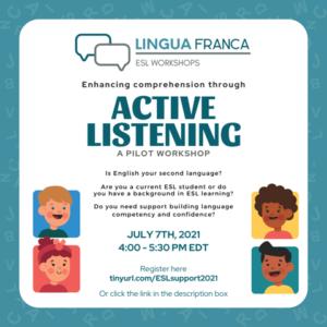 Lingua Franca Pilot Workshop - Active Listening