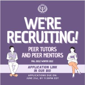 Deadline: UPSA Peer Mentoring and Peer Tutoring Recruitment