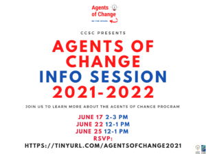 Agents of Change Information Session