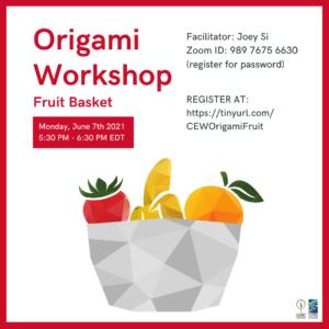 Origami Workshop: Fruit Basket