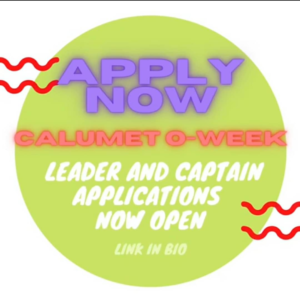 Deadline: Frosh Leader and Captain Applications for Calumet O-Week
