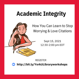 Academic Integrity: How You Can Learn to Stop Worrying & Love Citations