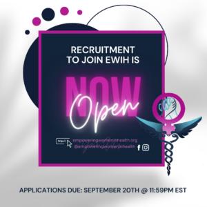 Deadline: Empowering Women in Health is Recruiting!