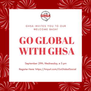 GHSA Welcome Bash: Go Global With GHSA!