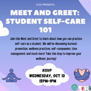 Meet & Greet: Student Self-Care 101