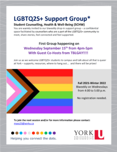 LGBTQ2S+ Support Group